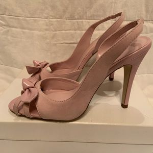 Lilac Peep Toe Slingback Heels